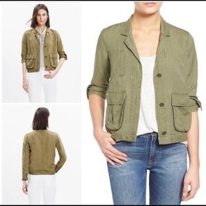 Madewell Army Green League Cargo Utility Jacket  M